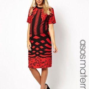 ASOS Maternity Shift Dress in Monoclash Print
